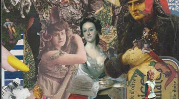 actual size collage (detail) - Steve Dalachinsky