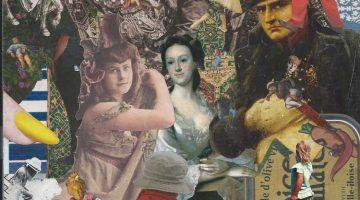 actual size collage (detail) - Steve Dalachinsky
