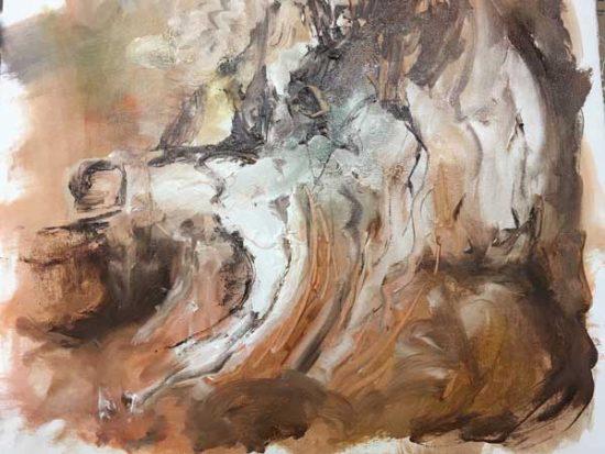 Ice Bone - Judith Skillman painting