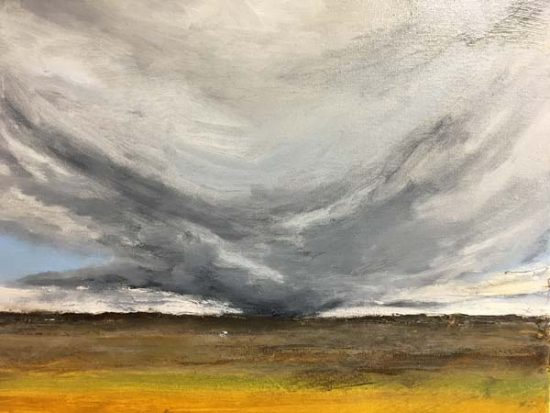 Storm Over the Columbia - Judith Skillman painting