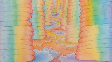 Yen Yen - Rainbow Stacks (detail) watercolor