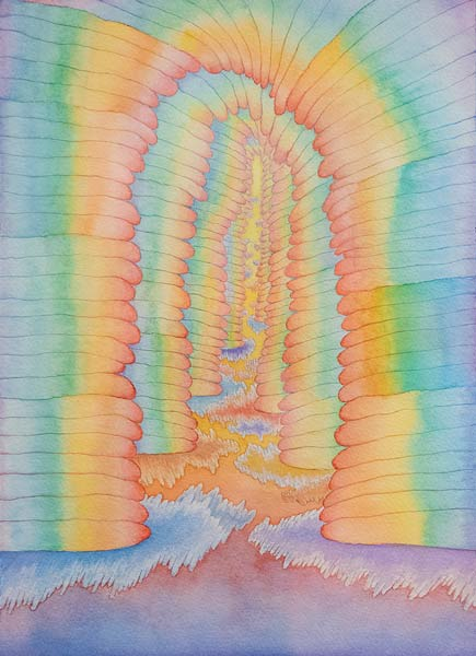 Yen Yen - Rainbow Stacks watercolor