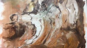 Ice Bone (detail) - Judith Skillman painting