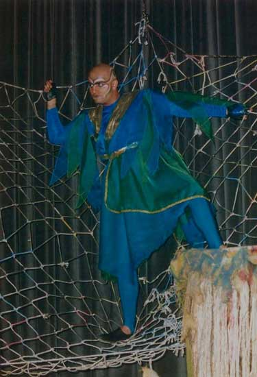 Oberon on stage of A Midsummer Night's Dream, Tehran, Iran, 1999