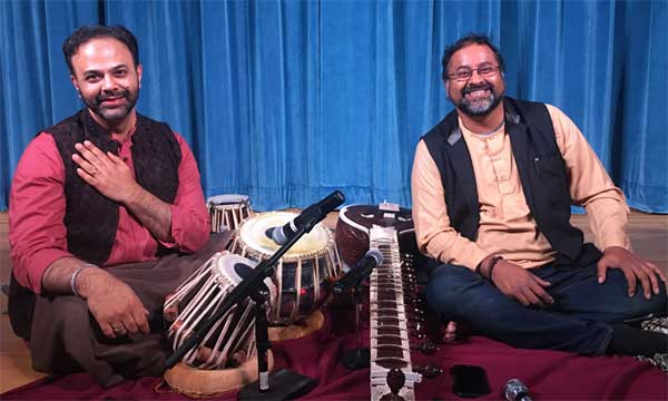 Ajit Acharya on tabla and Srinivas Reddy on sitar