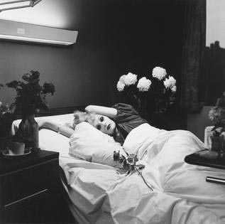 Candy Darling on her Deathbed by Peter Hujar, used as cover photo for I Am a Bird Now / fair use