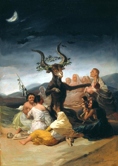 GOYA - El aquelarre (Museo Lázaro Galdiano, Madrid, 1797-98)