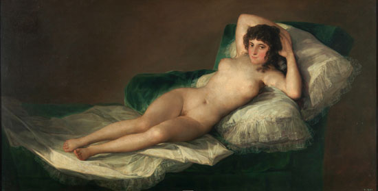 Maja desnuda by Francisco Goya (Museo del Prado)