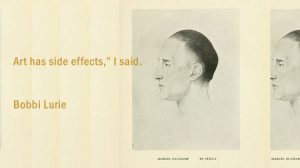 Art has side effects, I said - Bobbi Lurie - Marcel Duchamp