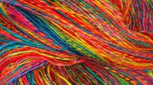 rainbow yarn / photo by inger maaike